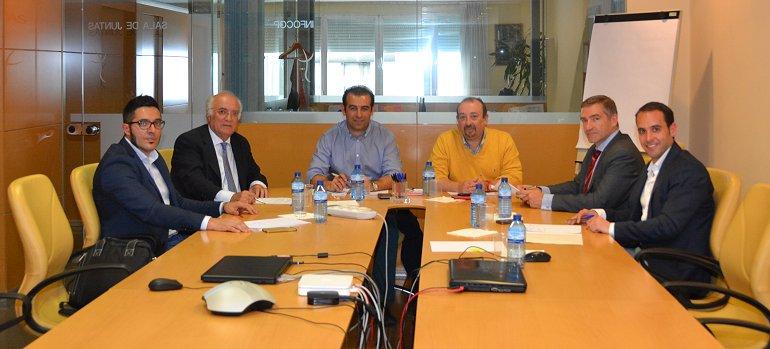 Momento de la reunión entre la Coordinadora de la División de Psicología de la Actividad Física y el Deporte y los colectivos profesionales de Ciencias del Deporte